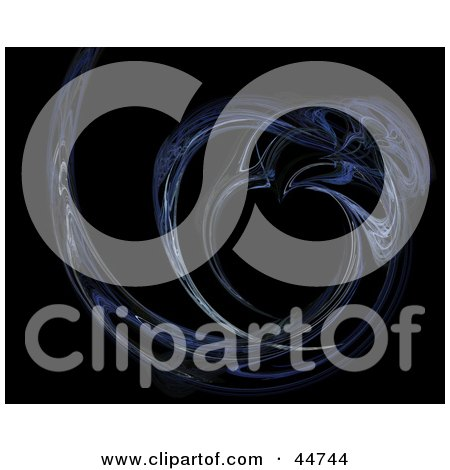 Royalty-Free (RF) Clipart Illustration of a Blue Curve Fractal by oboy