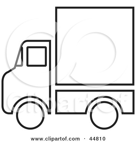 clipart of a yellow moving van or big right truck