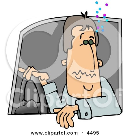Drunk Driver Operating A Motor Vehicle Clipart