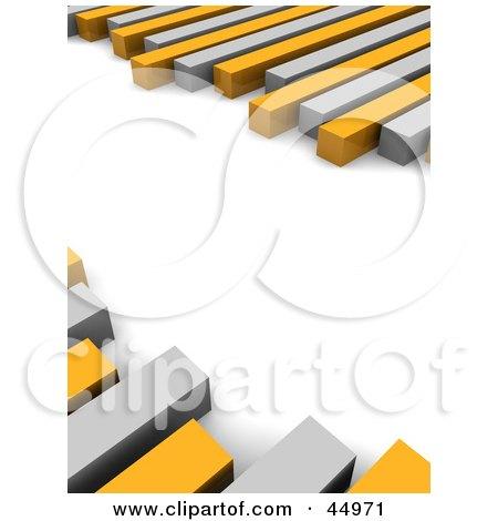 Royalty-free (RF) Clipart Illustration of Random Gray And Orange Bars Of A Graph by Jiri Moucka