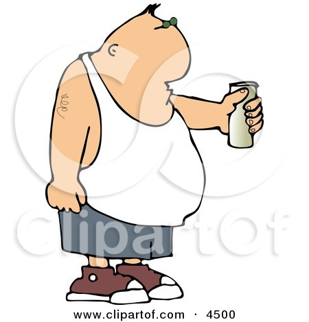 Man Holding Beer Can Clipart by djart