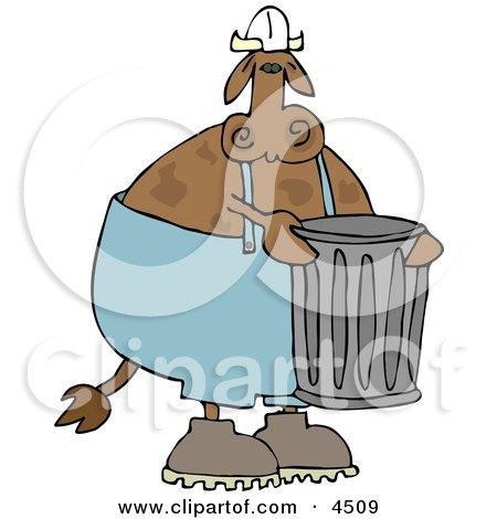 Garbageman Cow Clipart by djart