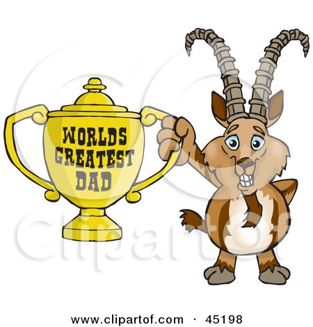 Clipart of a Happy Ibex Goat Giving a Thumb up - Royalty ...