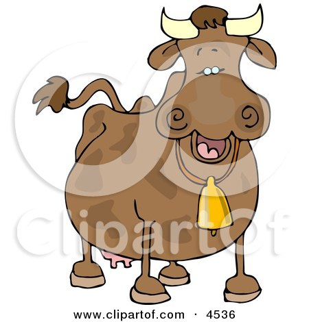 Cow Wearing a Bell Posters, Art Prints
