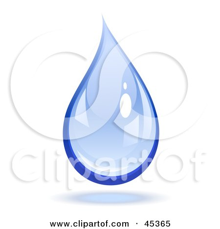 Reflective Blue Dropping Water Drop Posters, Art Prints