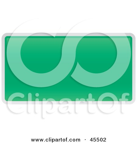 Royalty-free (RF) Clipart Illustration of a Blank Green Interstate Exit Sign by John Schwegel
