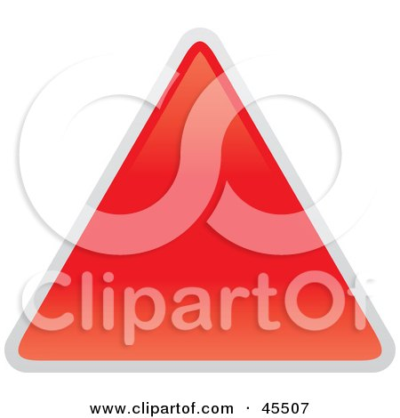 Royalty-free (RF) Clipart Illustration of a Blank Red Yield Sign by John Schwegel