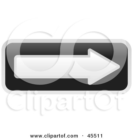Royalty-free (RF) Clipart Illustration of a Black And White One Way Street Arrow Sign by John Schwegel