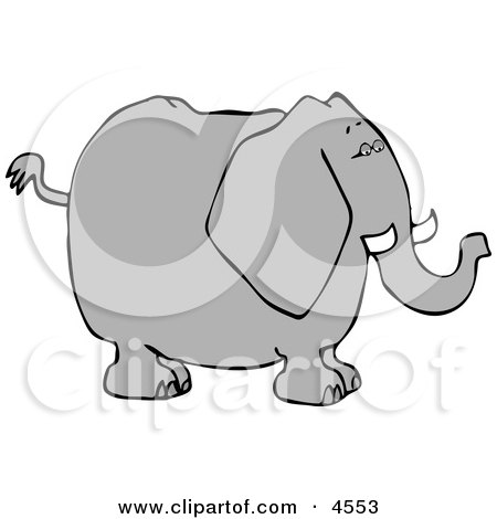 Big Elephant with Tusks Clipart by Dennis Cox