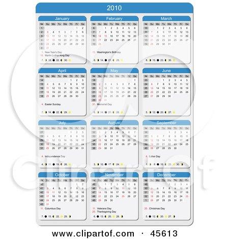 Простой Календарь 2009-2010