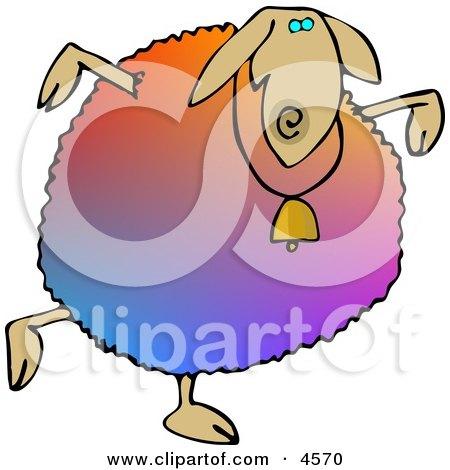 Colorful Anthropomorphic Sheep Dancing Posters, Art Prints