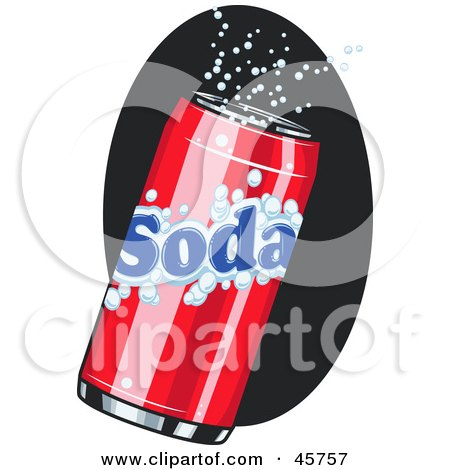 Royalty-free (RF) Clipart Illustration of a Fizzy Red Can Of Soda Pop by r formidable