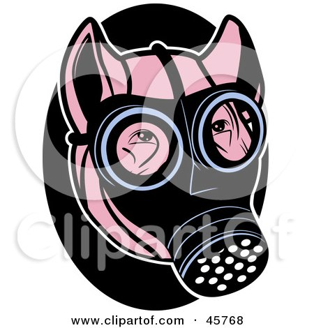 Royalty Free Rf Gas Mask Clipart Illustrations Vector