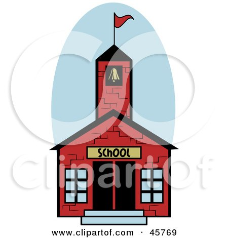 clip art school house. Art Print Description