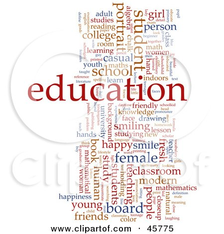 Royalty-free (RF) Clipart Illustration of a Background Of Red And Blue Educational Word Tags by Kheng Guan Toh
