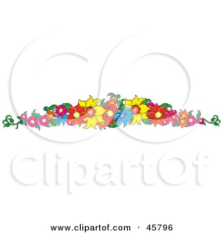 Border Or Header Of Colorful Summer Flowers Posters, Art Prints