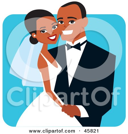 Happy African American Bride And Groom Posing For A Portrait Posters, Art Prints