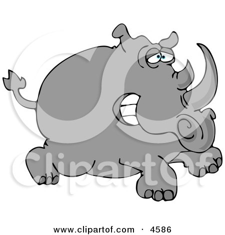 Two-horned Rhino Posters, Art Prints