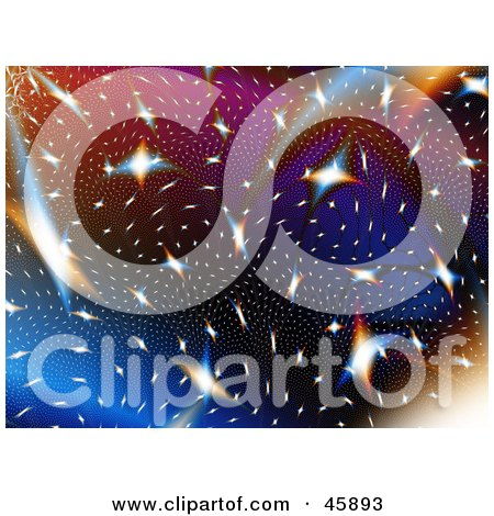 Colorful Celestial Background Of Stars In A Galaxy Posters, Art Prints