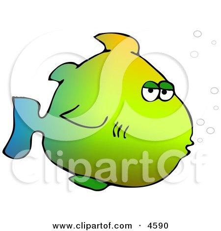 Yellow Marine Fish Clipart by djart