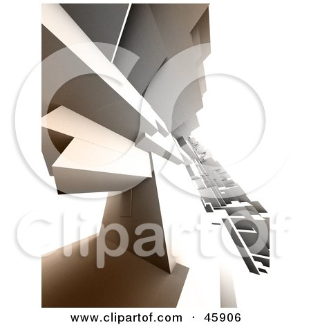 Royalty-Free (RF) Clipart Illustration of a Complex 3d Render Of A Slanted Urban Cityscape by chrisroll