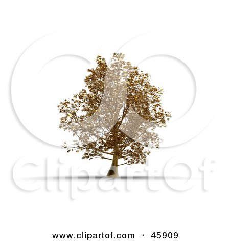 Royalty-Free (RF) Clipart Illustration of a 3d Rendered Tree Of Gold, Symbolizing Wealth by chrisroll