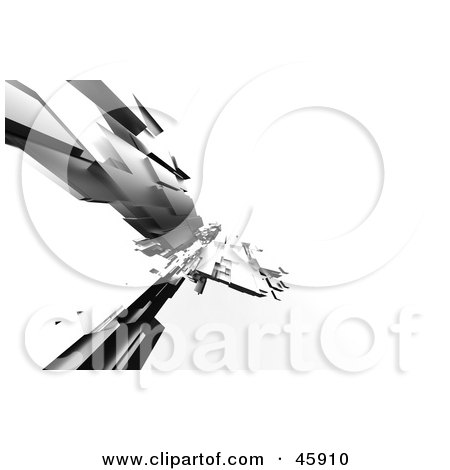 Royalty-Free (RF) Clipart Illustration of a Flash Of A Futuristic Gray 3d Structure by chrisroll
