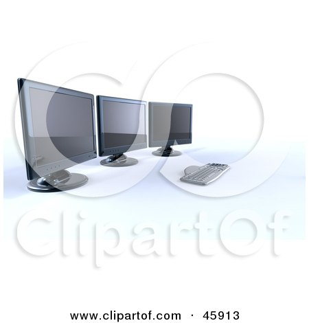 Royalty-Free (RF) Clipart Illustration of a Keyboard Resting At A ...