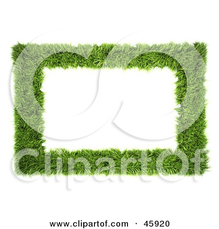 Royalty-Free (RF) Clipart Illustration of a Realistic Green Grass Frame by chrisroll