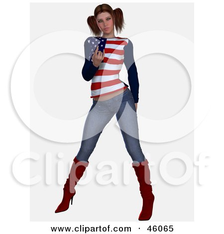 Sexy American Woman In Jeans, Gesturing With A Come Hither Finger Posters, Art Prints