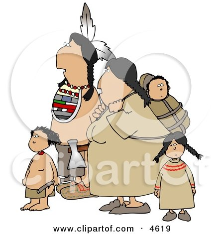 Indian Family Hiking Together Posters, Art Prints