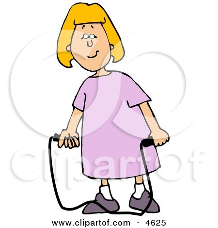 Happy Girl with a Jump Rope Clipart by djart
