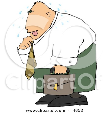 Hot Businessman Loosening Up the Tie Around His Neck Clipart by djart