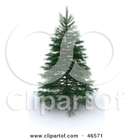 Royalty-Free (RF) Clipart Illustration of a 3d Green Christmas Tree Before Decorations by KJ Pargeter