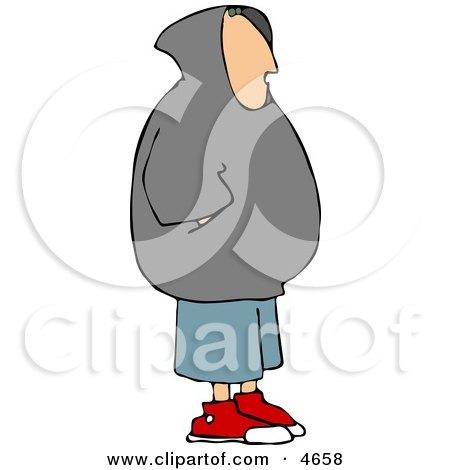Teenage Boy Wearing a Hoodie Clipart by djart
