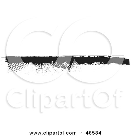 Royalty-Free (RF) Clipart Illustration of a Black Grunge Border Element With Halftone Marks by KJ Pargeter
