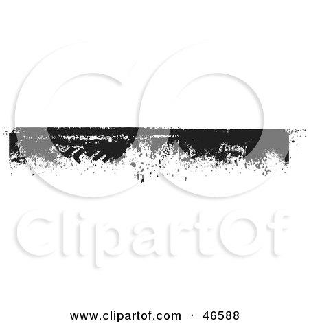 Royalty-Free (RF) Clipart Illustration of a Black Grunge Border Or Header Element by KJ Pargeter