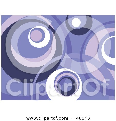 Royalty-Free (RF) Clipart Illustration of a Retro Purple And White Circle Background by KJ Pargeter
