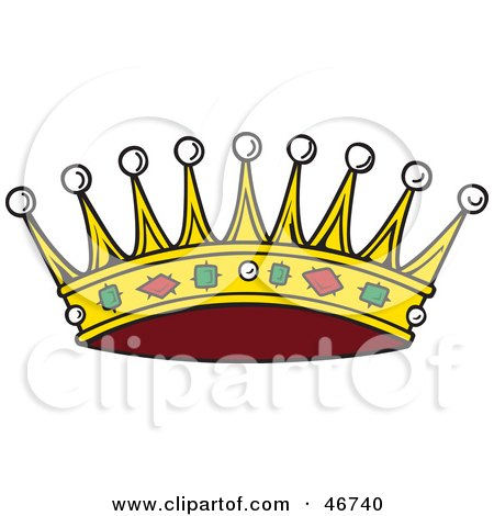 Clipart Illustration Of A Spiked King S Crown Adorned With