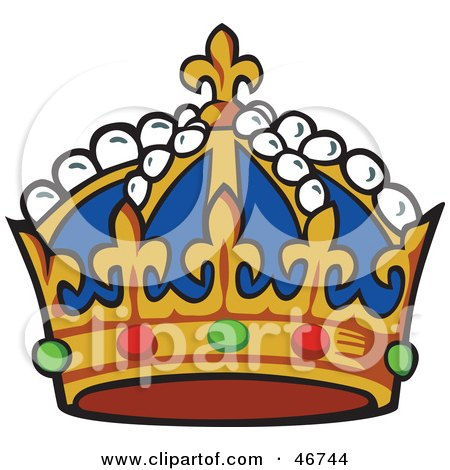 King crown clip art blue - photo#18