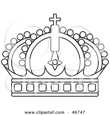 Queen Crown Black And White Clipart Arched Black And White Crown