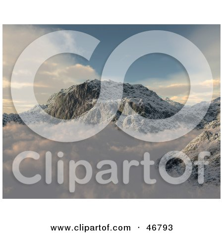3d Render Of A Mountainous Landscape Above The Clouds Posters, Art Prints