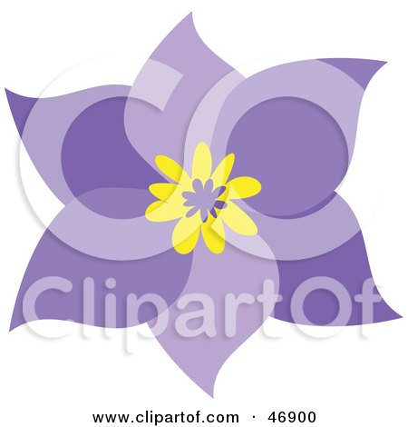 Yellow Flower Picture on Free  Rf  Clipart Of Purple Flowers  Illustrations  Vector Graphics  1