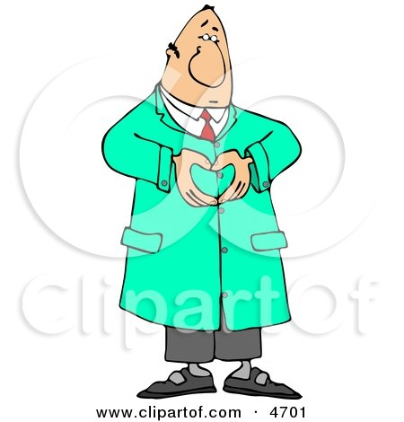 Male Doctor Hand Gesturing a Heart Symbol Clipart by djart