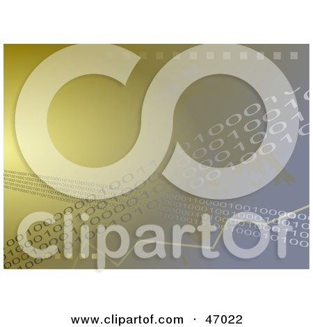 Clipart Illustration of a Binary Background With Lines Of Coding by Prawny