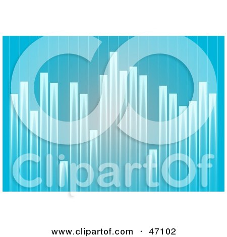 Clipart Illustration of a Varying Blue Graph Background by Prawny