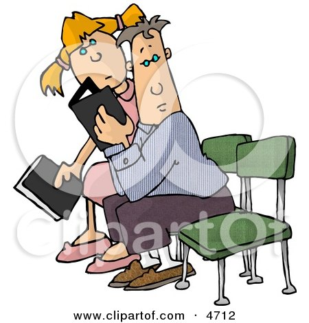 Clipart People Seated With Bibles - Royalty Free Illustration by djart