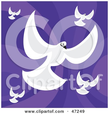 clipart of a black and white messenger dove with a letter