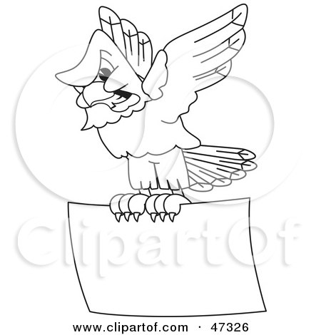 Royalty Free Rf Clipart Illustration Of A Bald Eagle Hawk Or