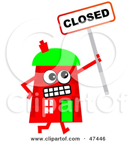 Royalty Free Rf Closed Clipart Illustrations Vector